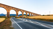 Noain aqueduct near Pamplona. Navarre  — Stock Photo