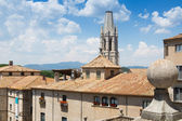 View of Girona with bell tower — Stock Photo