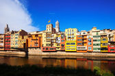 Picturesque houses of Girona — Stock Photo