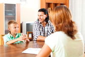 Questions of social worker — Stock Photo