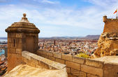 Alicante  from Castle.   Spain — Stockfoto