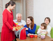 Happy  family communicate — Stock Photo