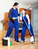 Cleaners cleaning house — Stock Photo