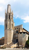 Collegiate Church of Sant Feliu — Stock Photo