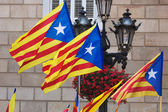 Catalonia flags   — Stock Photo