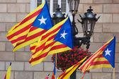 Catalonia flags   — Stock Photo