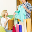 Two women with shopping bags — Stock Photo #48990209