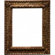 Dark golden picture frame — Stock Photo