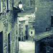 Narrow street of old Catalan village — Stock Photo #48993281