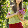 Gardener walking in park — Stock Photo #48994275