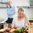 Mature couple after quarrel — Stock Photo #48994567