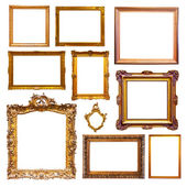 Gold picture  frames  — 图库照片