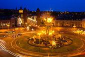 Night view of Plaza de Espana — Stock Photo