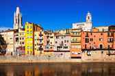 Picturesque houses in Girona — 图库照片