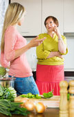 Daughter fighting with upset mature mother — Stock Photo