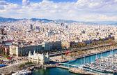 Vue de la ville de barcelone. catalogne — Photo