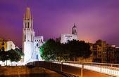 Night view of Girona — Stock Photo