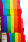 Street with rainbow flags   — Stock Photo