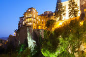 Houses on rocks in Cuenca — Stock Photo