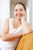 Smiling beauty mature woman   — Stock Photo