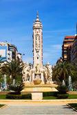 Fontain luceros meydanı alicante — Zdjęcie stockowe