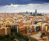 Barcelona city from Sagrada Familia — Stock Photo