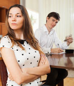 Quarrel because of financial problems — Stock Photo