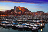 Port of Alicante in dawn.  Spain — 图库照片