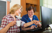 Two mature women  browsing web — Stock Photo