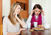 Two  women after quarrel — Stock Photo