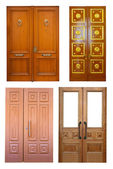 Set of wooden double doors  — Stock Photo