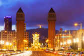 Night view of Barcelona  — Stock Photo
