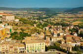 View of typical Catalan town. Cardona — Stock Photo