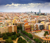 Residential districts of Barcelona city from Sagrada Familia  — Foto de Stock