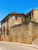 Old  street  of medieval Girona — Stock Photo