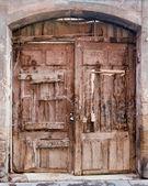 Vintage wooden double door   — Photo