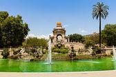 Cascada fontána v barceloně. — Stock fotografie