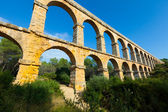 Wide angle shot of Ponte del Diable — Stock Photo