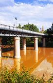 Puente de Hierro  over Ebro  in sunny day. — Photo
