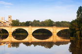Old bridge (Puente da Piedra) over Ebro river. — Photo