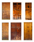 Set of Vintage wooden doors.  — Stock Photo