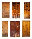 Set of Vintage wooden doors.  — Stockfoto