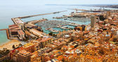 Port  in Alicante with docked yachts  — Stock Photo