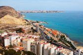 Alicante from high point in  day. — Foto de Stock