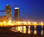 View of Somorrostro Beach  in Barcelona — Stock Photo