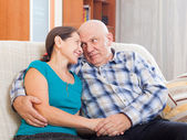 loving senior couple together — Stock Photo