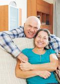 Happy elderly man with beloved wife — Stock Photo