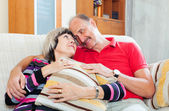 Loving casual senior couple   — Stock Photo