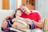 Loving casual senior couple   — Stockfoto