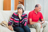 Woman having conflict with husband — Stock Photo